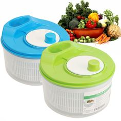New Plastic Salad Spinner Vegetable Lettuce Dryer Wash Draining Sifter Container#home#