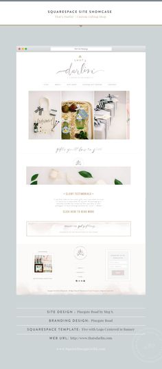 Squarespace Design Guild That's Darlin by Pinegate Road Five Template Web Design Trends, Design Web, Layout Design, Diy Design, Web Layout, Blog Design, Graphic Design, Website Design Inspiration, Beautiful Website Design