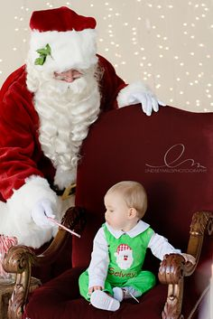 i love this idea for a santa picture without the inevitable crying baby on santa's lap