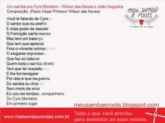 Um samba pro Cyro Monteiro - Wilson das Neves e João Nogueira