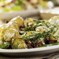 potetsalat med bacon og dill Broccoli, Potato Salad, Bacon, Potatoes, Vegetables, Ethnic Recipes, Food, Potato, Essen