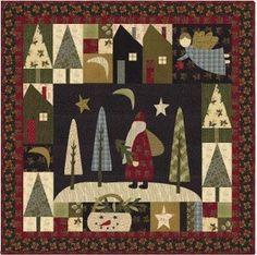 Love this...Santa Claus Lane Folk Art Christmas Jan Patek Quilt Pattern