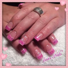 Pretty in pink with embedded hearts