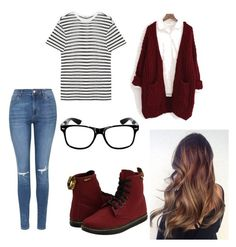 """""""Cozy school days"""" by madelaine-p on Polyvore featuring Dr. Martens, Topshop, T By Alexander Wang, Chicnova Fashion, women's clothing, women, female, woman, misses and juniors"""