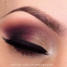 Wine colored smoky eye look by :! Crystal