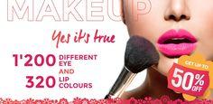 Yes it's true! Besuche www.magando.ch und überzeuge dich von der unglaublichen Auswahl an Make-up-Produkten. #makeup #lipstick #eyemakeup