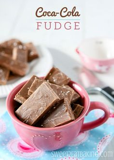 Coca-Cola (Coke) Fudge - Try Coca-Cola in edible form with this Coke fudge recipe. Sweet melt in your mouth fudge with that great Coca-Cola flavor we all know and love.
