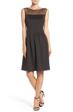 Ellen Tracy Beaded Scuba Fit & Flare Dress (Regular & Petite) available…