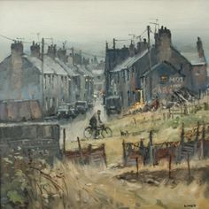 John LINES artist, paintings and art at the Red Rag British Art Gallery Landscape Drawings, Landscape Art, Landscape Paintings, Urban Landscape, Oil Paintings, Art Is Dead, Industrial Artwork, Line Artist, Nostalgia Art