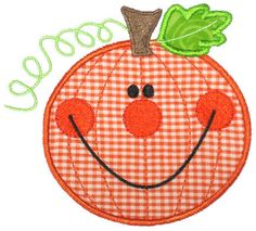 Applique Only :: Happy Pumpkin Applique - Embroidery Boutique