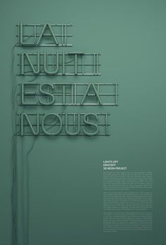 Typographic Poster Design by Rizon Parein for Lights Off Eristoff Campaign