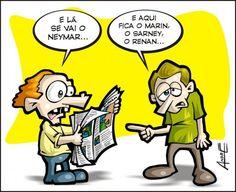 Lá se foi o Neymar...