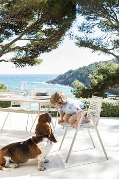 Outdoor furniture by Tribù. Branch collection by Lievore Altherr Moline