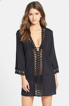 Swimsuit CoverUp - I can't wait for the beach & pool... La Blanca Crochet Trim Cover-Up | Nordstrom