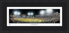 "Chicago White Sox Opening Ceremonies 2005 42"" x 18"" Framed and Matted Stadium Panorama"