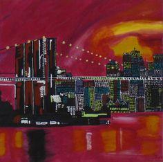 New York #city #NY #painting #bridge #Brücke #kunst