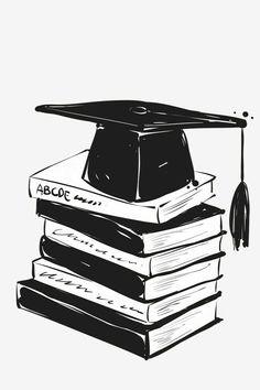 Book,hat,bachelor cap,graduation season element PNG and PSD Graduation Images, Graduation Decorations, Graduation Gifts, Graduation Cap Clipart, Graduation Centerpiece, Graduation Drawing, Graduation Wallpaper, Congratulations Graduate, Instagram Highlight Icons
