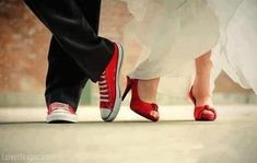 Red wedding shoes wedding dress red shoes bride groom# I can do this with the hubby.