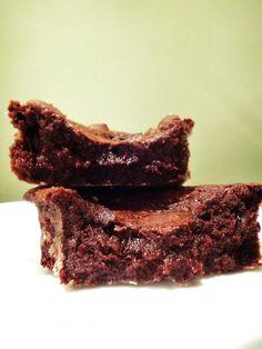 Brownie com recheio de brigadeiro