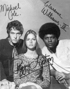 Michael Cole as 'Peter Cochran', Peggy Lipton as 'Julie Barnes' & Clarence Williams III as 'Linc Hayes' in The Mod Squad ABC) My favorite show growing-up! 70s Tv Shows, Old Shows, Easy Listening, Julie Barnes, Clarence Williams Iii, Peggy Lipton, Michael Cole, Jazz, Vintage Television