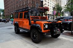 clean 1987 Land Rover Defender offroad