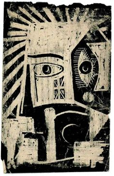 'African Mask' (1947-48) by Andre Breton