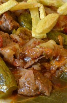 Pinterest Recipes, Greek Recipes, Soul Food, Food And Drink, Cooking Recipes, Yummy Food, Beef, Stuffed Peppers, Meals