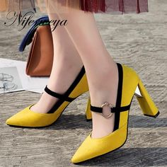 Pump Shoes, Shoes Heels, Heeled Sandals, High Shoes, Wedge Sandals, Plateau Pumps, Mary Jane Pumps, Thick Heels, Ballerinas