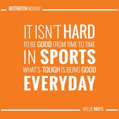 Playmakers recommit to giving their best everyday! Willie Mays, Being Good, Monday Motivation, Motivational, Good Things, Quotes, Sports, Qoutes, Hs Sports
