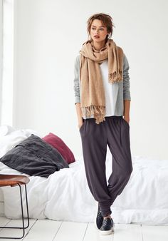 worn today by a friend at school pick up and they look so good...hush | Long Harem Trousers