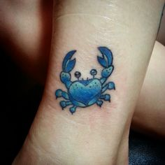 Blue crab tattoo by Doc at Skinsations Tattoo Studio in Jefferson City Tennessee.