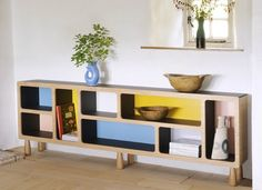 #color #simple #modern #shelving #naural #wooden