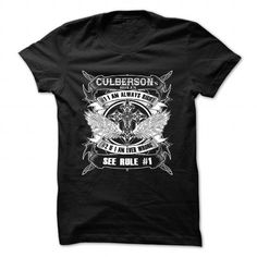 (CULBERSON) - #tshirt frases #unique hoodie. PURCHASE NOW => https://www.sunfrog.com/Camping/CULBERSON-85080158-Guys.html?68278