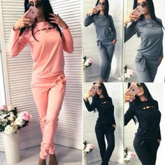 bf7a1d5c4f8d 2017 New 2 Pieces Set Women Tracksuit Patchwork Long Sleeve Sweatshirts And  Casul Fitness Pants Autumn