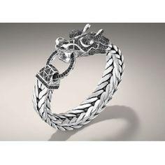 John Hardy black diamond dragon bracelet.
