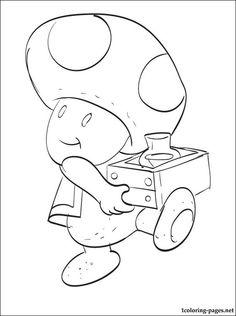 Toad Mario Printable Coloring Page