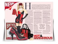 """Red Hottt Available Through The Workshop"" by wackyworkshop ❤ liked on Polyvore featuring Retrò"