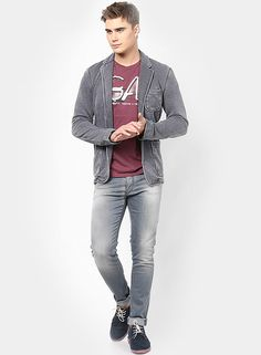 8a5964b46c Buy Gas Mauve Solid Round Neck T-Shirts for Men Online India