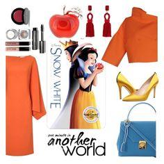 """#SnowWhite"" by hbee-1234 ❤ liked on Polyvore featuring Les Copains, Osman, Mark Cross, SJP, Oscar de la Renta, Bobbi Brown Cosmetics, women's clothing, women's fashion, women and female"
