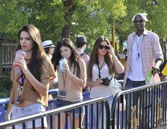 Kendall Jenner,Khloe Kardashian, Kylie Jenner & Lamar Odom at Universal Studios Hollywood