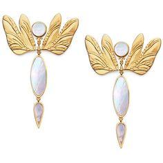 Tory Burch Dragonfly Earring (1.490 NOK) ❤ liked on Polyvore featuring jewelry, earrings, fancy earrings, vintage earrings, dragonfly jewelry, vintage dragonfly jewelry and tory burch