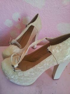 My vintage lace shoes