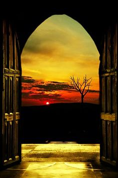 Framed Sunset - Most Beautiful Pictures