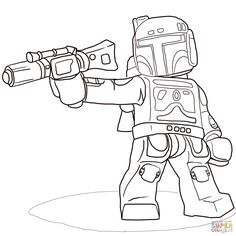 Lego Star Wars Boba Fett   Super Coloring