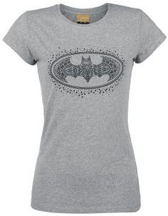 Batman - Logo  - print op de voorkant - nek: ronde hals - strakke pasvorm - GoZoo shirt met strakke pasvorm