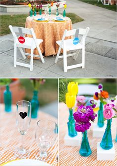 UP themed wedding / modern/ bright / sweetheart table decor ideas