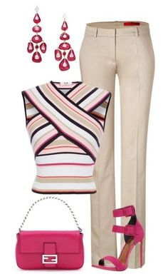89 Awesome Striped Outfit Ideas for Different Occasions - Do you like those striped outfits? Why do you avoid wearing them? Although most of the striped outfits appear to be catchy and fascinating there are . Mode Outfits, Office Outfits, Chic Outfits, Fashion Outfits, Womens Fashion, Office Attire, Trendy Outfits, Work Fashion, Fashion Looks