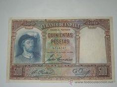 billete banco de españa 500 pesetas 1928 sin serie y sin circular