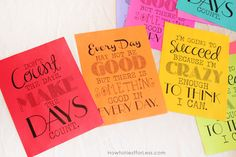 inspirational quotes printables, made for canvas art but could be sized down for PL