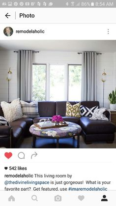 How To Make Your Brown Sofa Work. White Planked Walls With Brown Sofa  Sectional